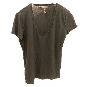 Black slightly see through tee shirt Bcbg XXS